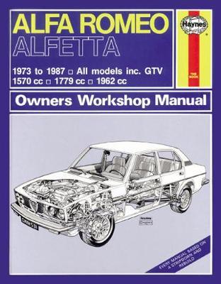 Alfa Romeo Alfetta & GTV 1973-1987 Repair Manual