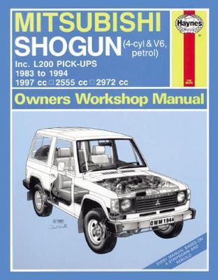 Mitsubishi Triton & L200 Pick-Ups Petrol 1983-1994 Repair Manual