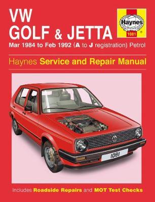 VW Golf & Jetta Mk 2 Petrol 1984-1992 Repair Manual