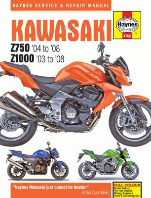 Kawasaki Z750 2004-2008, Z1000 2003-2008 Repair Manual