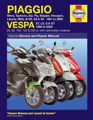 Piaggio (Vespa) Scooters 1991-2009 Repair Manual