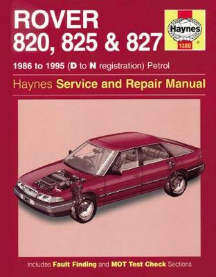 Rover 820, 825 & 827 Petrol (86 - 95) D To N