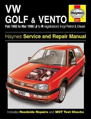 VW Golf & Vento Petrol & Diesel (Feb 92 - Mar 98) J To R
