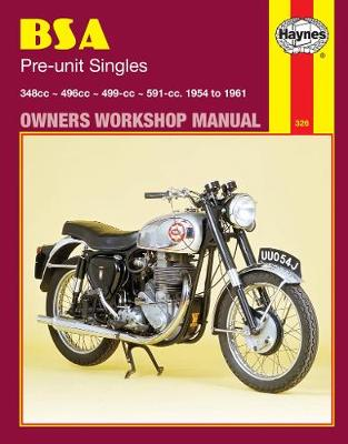 BSA Pre-unit Singles 1954-1961 Repair Manual