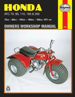 Honda ATC70, 90, 110, 185 and 200 1971-1985 Repair Manual