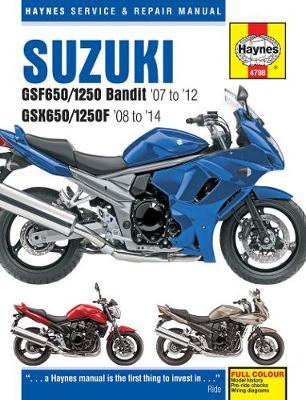 Suzuki GSF650/1250 Bandit & GSX650/1250F 2007-2014 Repair Manual