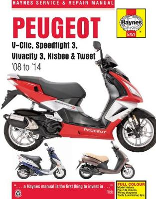 Peugeot V-Clic/Speedflight 3/Vivacity 3/Kisbee/Tweet 2008-2014 Repair Manual