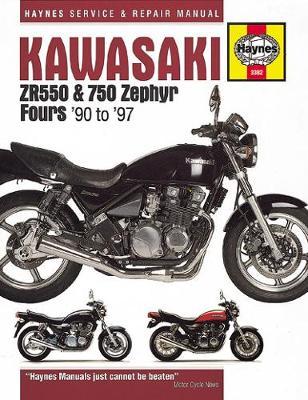 Kawasaki ZR550 & 750 Zephyr Fours 1990-1993 Repair Manual