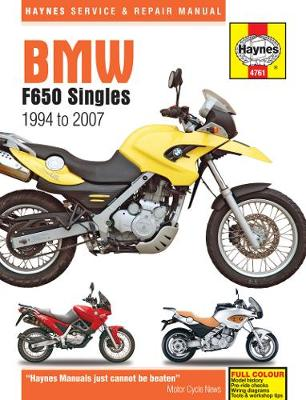 BMW F650 Singles 1994-2007 Repair Manual