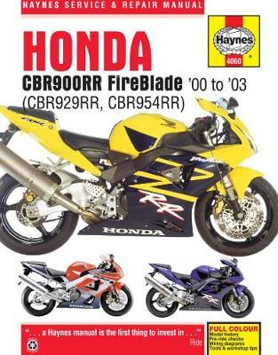 Honda CBR929RR Fireblade/CBR954RR Fireblade 2000-2003 Repair Manual