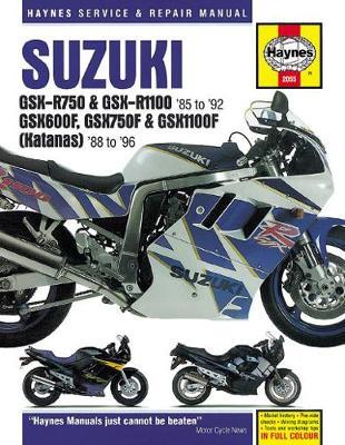 Suzuki GSX-R750/R1100/600F/750F/1100F Katana 1986-1996 Repair Manual