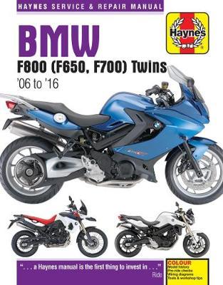 BMW F650, F700 & F800 Twins 2006-2016 Repair Manual