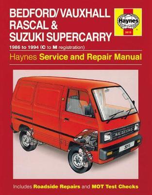 Vauxhall Rascal, Suzuki Supercarry SK410 1986-1994 Repair Manual