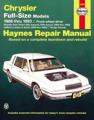 Chrysler/Dodge Full-Size FWD 1988-1993 Repair Manual