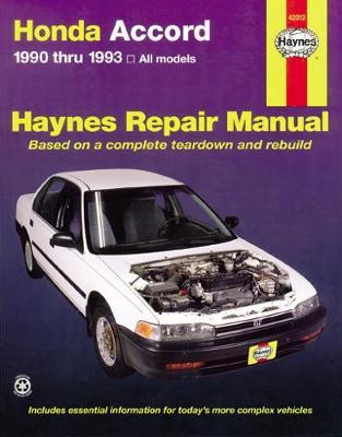 Honda Accord 1990-1993 Repair Manual