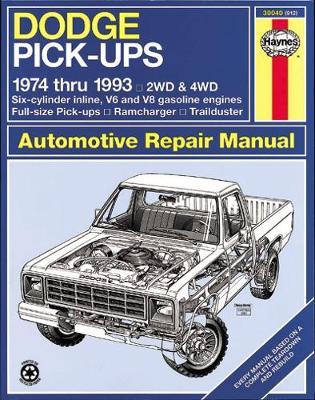 Dodge Full-Size Pick-up 1974-1993 Repair Manual