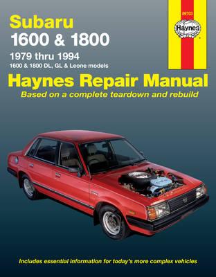 Subaru 1600 & 1800 DL 1979-1994 Repair Manual