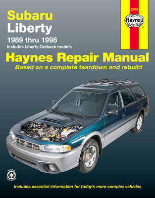 Subaru Liberty, Outback 1989-1998 Repair Manual