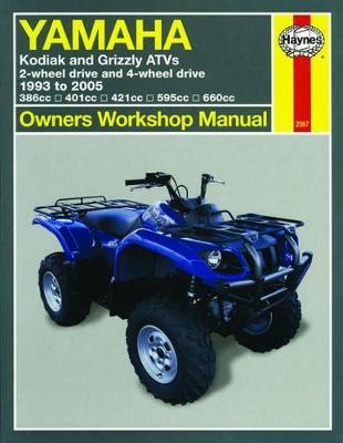Yamaha Kodiak&Grizzly 386/401/421/595/660cc 1993-2005 Repair Manual
