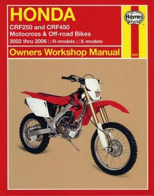 Honda CRF250R/CRF250X/CRF450R/CRF450X 2004-2006 Repair Manual