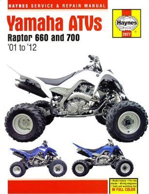 Yamaha Raptor 660 2001-2005, Raptor 700 2006-2012 Repair Manual