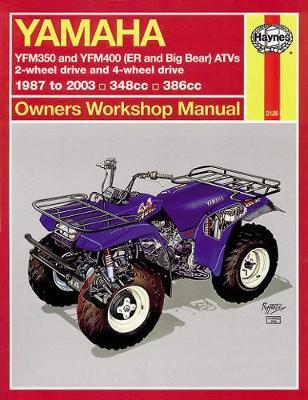 Yamaha Timberwolf, Bruin, Bear Tracker, 350ER & Big Bear (87 -09): 1987 to 2009