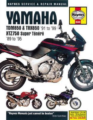 Yamaha TDM850, TRX850 & XTZ750 (89-99): 89-99