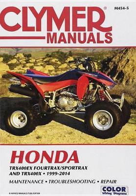 Clymer Honda TRX400Ex Fourtrax/Sportrax: 99-14