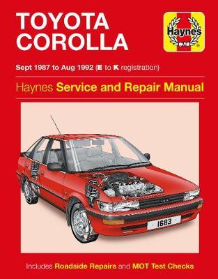 Toyota Corolla Service And Repair Manual: 87-92