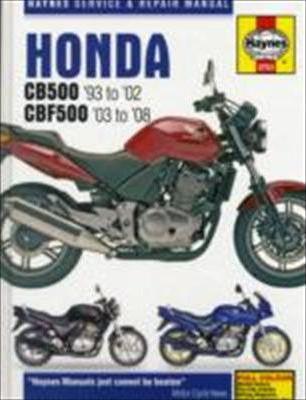 Honda CB500 1993-2002& CBF500 2003-2008 Repair Manual