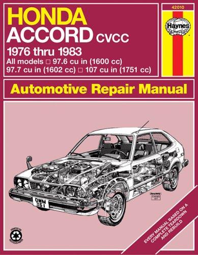 Honda Accord CVCC U.S.A.Models 1976-83 Owner's Workshop Manual