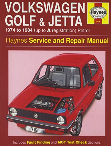 Volkswagen (Petrol) Golf and Jetta 1974-84, All Mk.I Models 1093c.c., 1272c.c. Service and Repair Manual