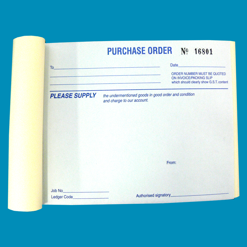 Purchase Order Books A6 Size Book 100