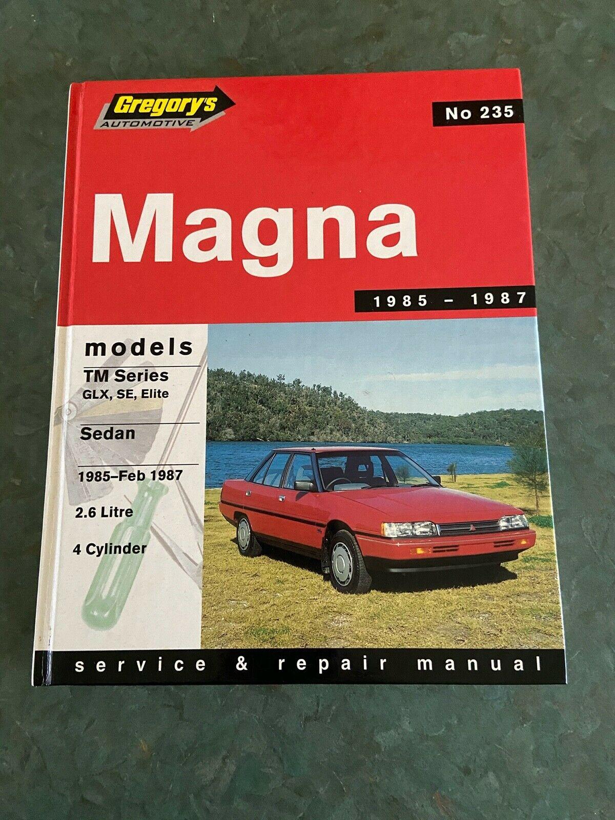 Mitsubishi Magna Tm Series, 1985-1986: Sedan 2.6 Litre 4cyl Glz SE Elite