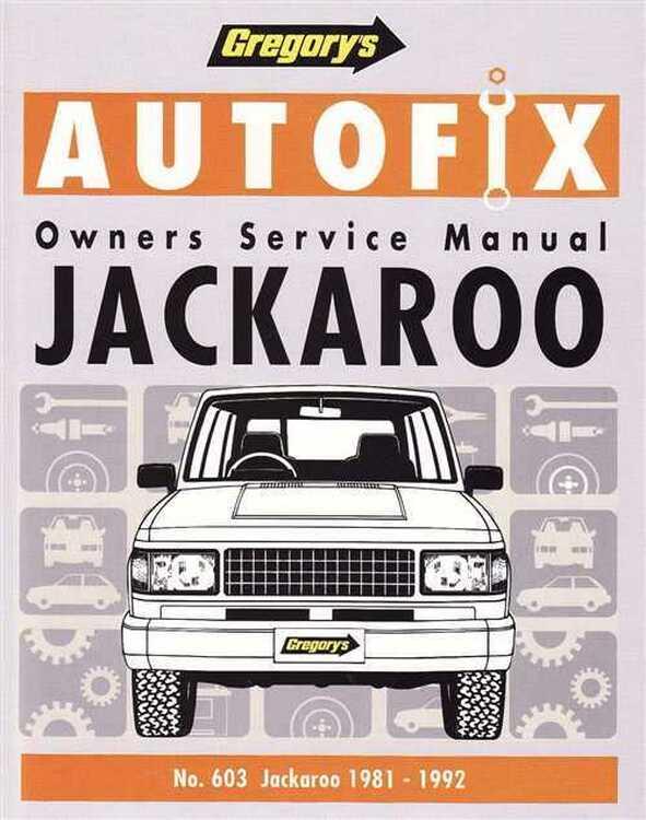 Jackaroo Petrol Swb, Lwb (1981-2)
