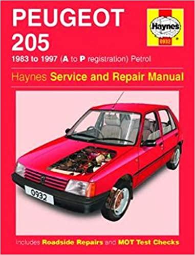 HM Peugeot 205 1983-1997 Repair Manual