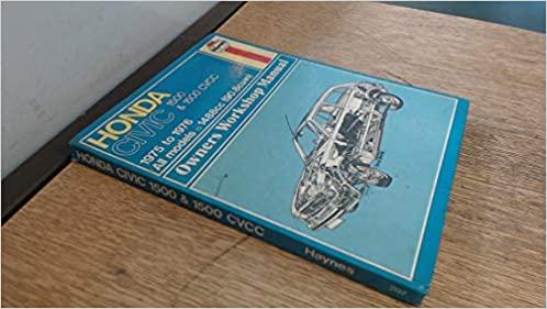 Honda Civic 1500 Owner's Workshop Manual