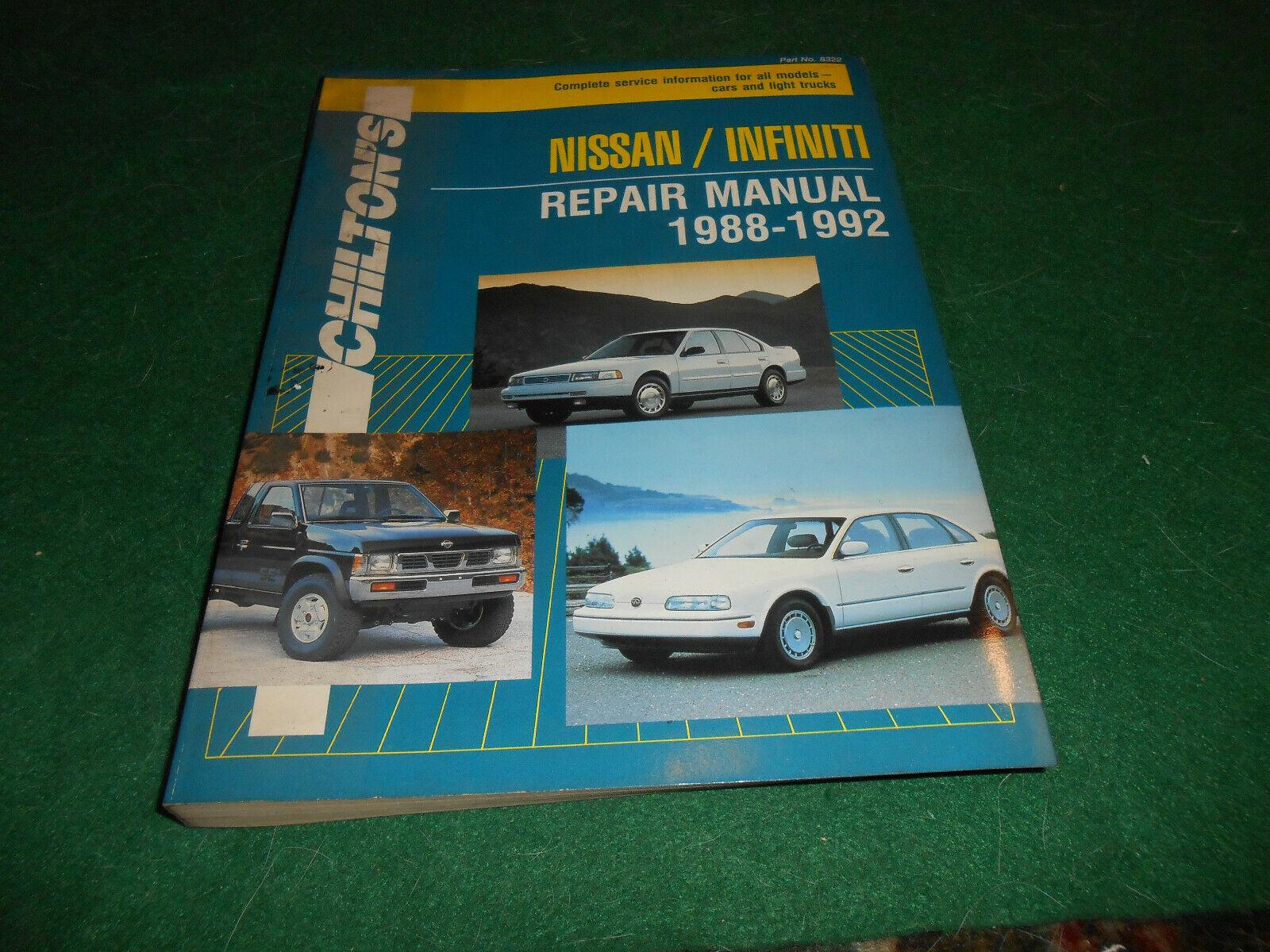 Nissan-Infiniti Repair Manual, 1988-92