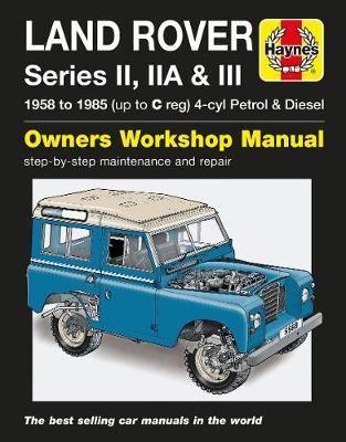 Book cover for product 9781785210211 Land Rover Series II, IIA & III 1958-1985 Repair Manual