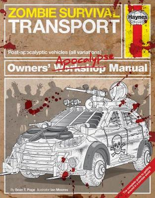 Book cover for product 9781785211669 Zombie Survival Transport Manual: Post-apocalyptic vehicles (all variations)