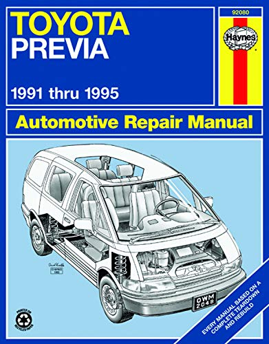 Book cover for product 9781563922114 Toyota Previa 1991-1995 Repair Manual