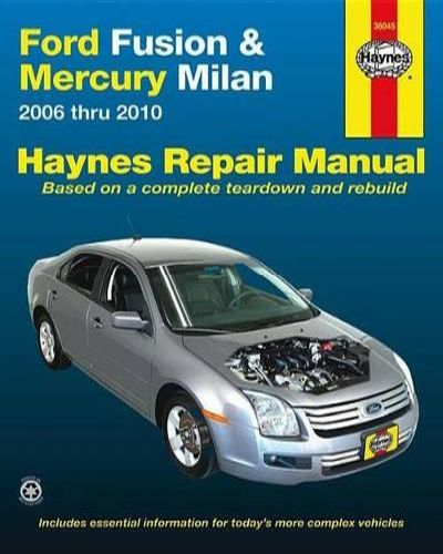 Book cover for product 9781563928901 Ford Fusion & Mercury Milan Automotive Repair Manual